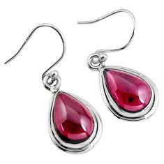 7.64cts natural red garnet 925 sterling silver dangle earrings jewelry p93466