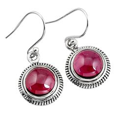 7.63cts natural red garnet 925 sterling silver dangle earrings jewelry p93469