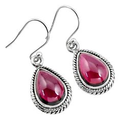 925 sterling silver 9.47cts natural red garnet dangle earrings jewelry p93474