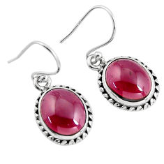 7.67cts natural red garnet 925 sterling silver dangle earrings jewelry p93476
