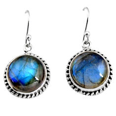 12.83cts natural blue labradorite 925 sterling silver dangle earrings p93509
