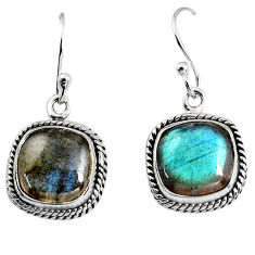 10.37cts natural blue labradorite 925 sterling silver dangle earrings p93519