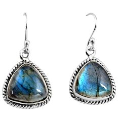 925 sterling silver 12.07cts natural blue labradorite dangle earrings p93524