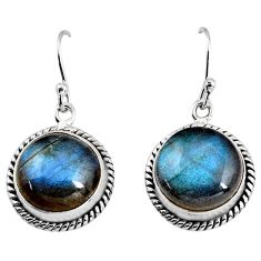 925 sterling silver 12.89cts natural blue labradorite dangle earrings p93532