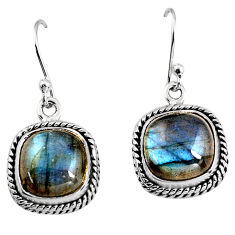 11.66cts natural blue labradorite 925 sterling silver dangle earrings p93533