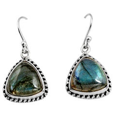 12.07cts natural blue labradorite 925 sterling silver dangle earrings p93535