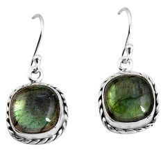 925 sterling silver 10.02cts natural blue labradorite dangle earrings p93536