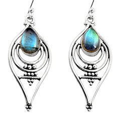 4.75cts natural blue labradorite 925 sterling silver dangle earrings p93557