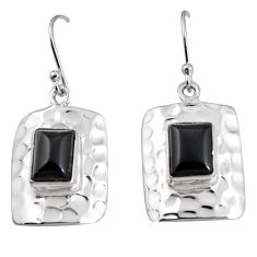 925 sterling silver 6.20cts natural black onyx dangle earrings jewelry p94003