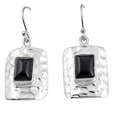 6.02cts natural black onyx 925 sterling silver dangle earrings jewelry p94004