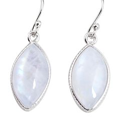 102.75cts natural rainbow moonstone 925 sterling silver dangle earrings p94163