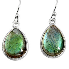 11.86cts natural blue labradorite 925 sterling silver dangle earrings p94246