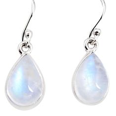 925 sterling silver 7.25cts natural rainbow moonstone dangle earrings p94344