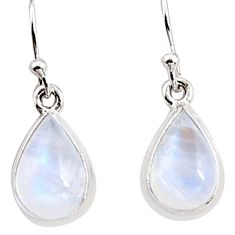 7.31cts natural rainbow moonstone 925 sterling silver dangle earrings p94346
