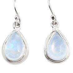 8.44cts natural rainbow moonstone 925 sterling silver dangle earrings p94349