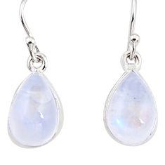925 sterling silver 7.58cts natural rainbow moonstone dangle earrings p94357