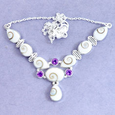 925 sterling silver 31.04cts natural white shiva eye amethyst necklace p19295