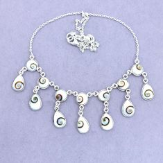 37.85cts natural white shiva eye 925 sterling silver necklace jewelry p22432