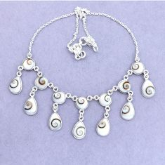 37.85cts natural white shiva eye 925 sterling silver necklace jewelry p22433