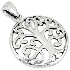 Indonesian bali java island 925 sterling silver tree of life pendant p1008