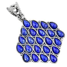 8.07cts natural blue lapis lazuli 925 sterling silver pendant jewelry p10822