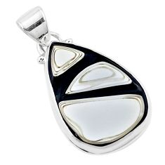 11.26cts brown florida auger shell 925 sterling silver pendant jewelry p12516