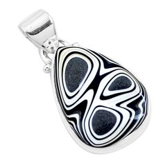 925 sterling silver 9.65cts brown florida auger shell pendant jewelry p12517