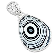11.74cts brown florida auger shell 925 sterling silver pendant jewelry p12542