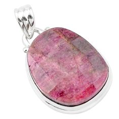 18.70cts natural pink tourmaline 925 sterling silver pendant jewelry p13663