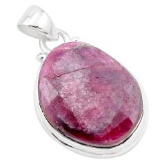 18.62cts natural pink tourmaline 925 sterling silver pendant jewelry p13665