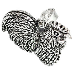 Indonesian bali java island 925 sterling silver cock face pendant jewelry p1383