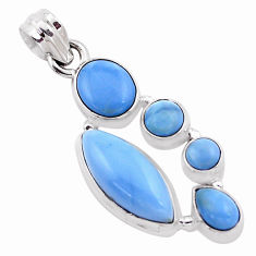 13.71cts natural blue owyhee opal 925 sterling silver pendant jewelry p13874
