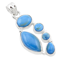 13.71cts natural blue owyhee opal 925 sterling silver pendant jewelry p13880