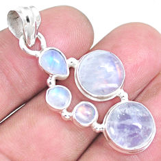 925 sterling silver 12.71cts natural rainbow moonstone pendant jewelry p14237