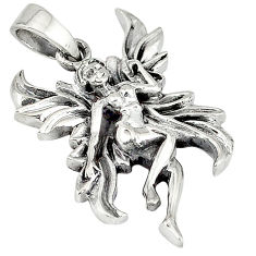 Indonesian bali java island 925 silver angel wings fairy pendant jewelry p1433