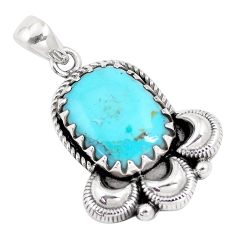12.83cts green arizona mohave turquoise 925 sterling silver pendant p14405