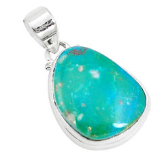 925 sterling silver 12.62cts natural green opaline fancy pendant jewelry p14678