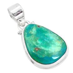 10.73cts natural green opaline 925 sterling silver pendant jewelry p14679