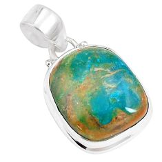 13.15cts natural green opaline 925 sterling silver pendant jewelry p14680