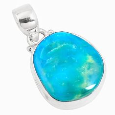 11.20cts natural green opaline 925 sterling silver pendant jewelry p14698