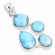 13.71cts natural blue larimar 925 sterling silver pendant jewelry p15050
