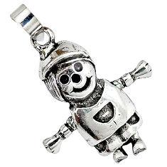 3d mving smoman boy charm 925 sterling silver doll pendant jewelry p1513