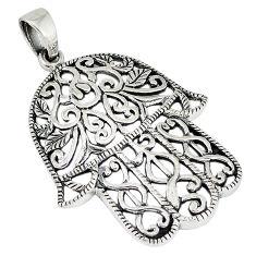 925 silver indonesian bali java island hand of god hamsa pendant jewelry p1522