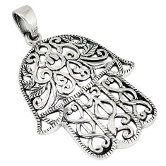 Indonesian bali java island 925 silver hand of god hamsa pendant jewelry p1523