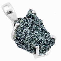 11.20cts natural green seraphinite in quartz 925 sterling silver pendant p16621