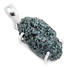 925 silver 12.22cts natural green seraphinite in quartz pendant jewelry p16629