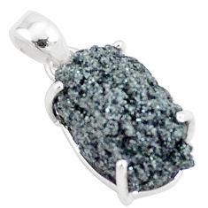 11.20cts natural green seraphinite in quartz 925 sterling silver pendant p16631