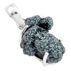 10.08cts natural green seraphinite in quartz 925 sterling silver pendant p16634