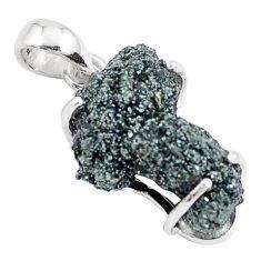 925 silver 12.22cts natural green seraphinite in quartz fancy pendant p16645