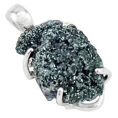 13.70cts natural green seraphinite in quartz 925 sterling silver pendant p16646